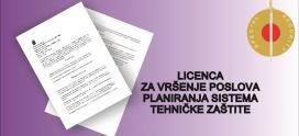 Licenca za vršenje poslova planiranja sistema tehničke zaštite
