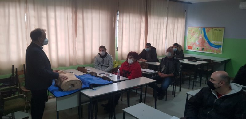 Atmosfera sa teorijskog dela obuke iz Šapca